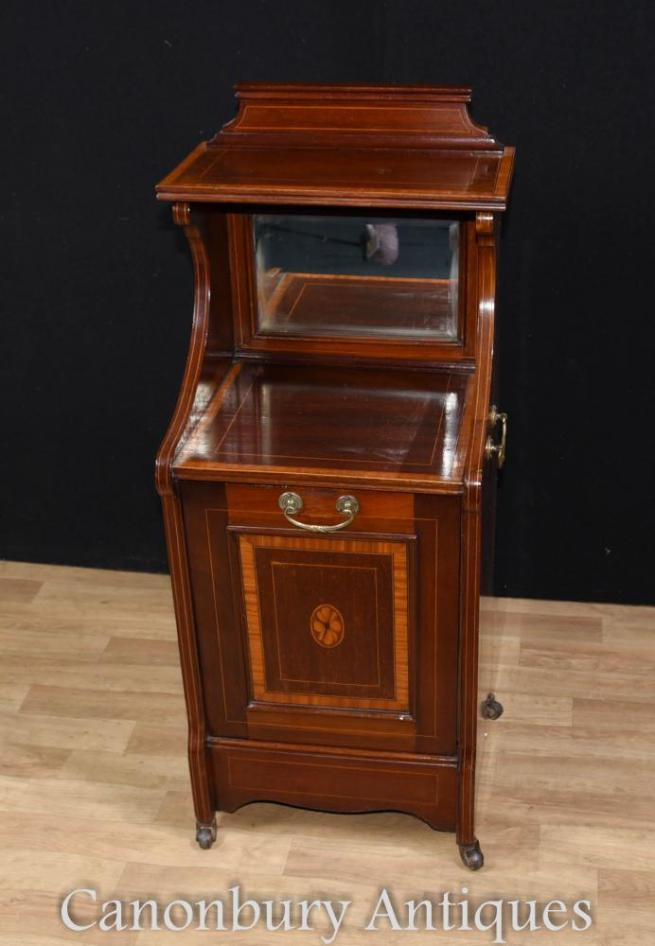 Regency Mahogany Coal Shuttle Cabinet Sideboard