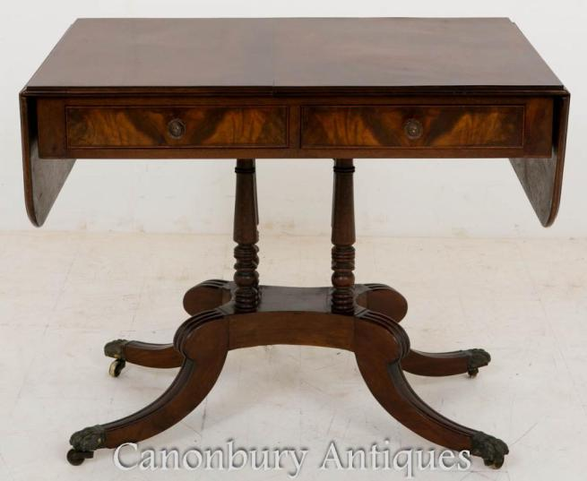 Regency Mahogany Sofa Side Table Circa 1800