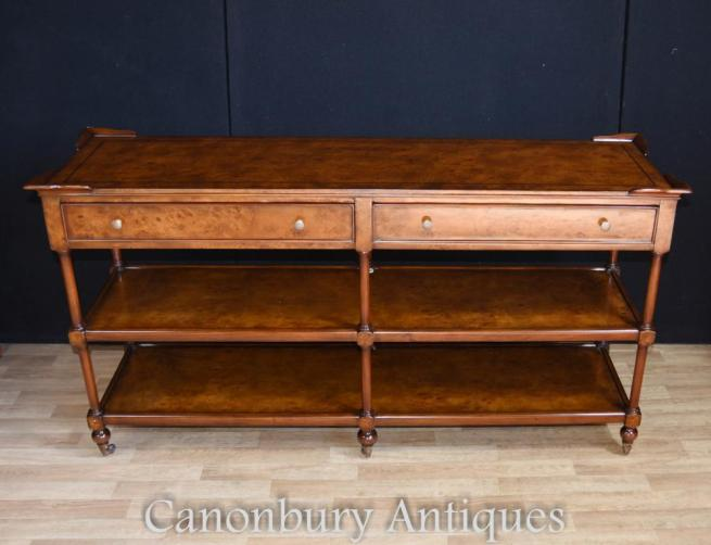 Regency Walnut Sideboard Server Shelf Unit