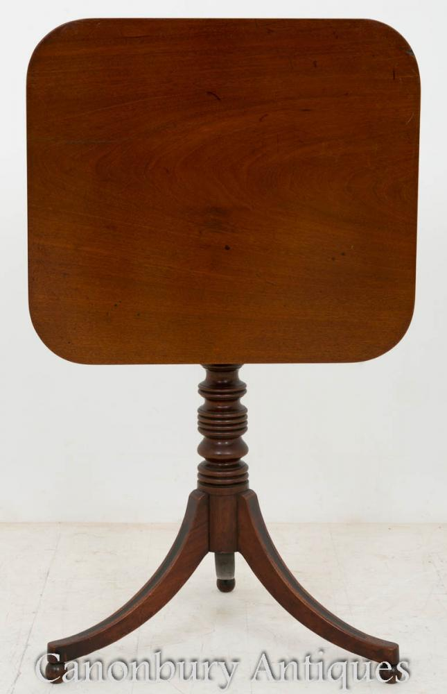 Regency Wine Table Snap Top Mahogany Side Tables