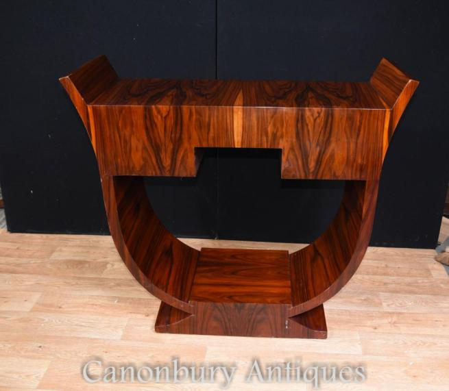 Rosewood Art Deco Console Table Interiors Hall