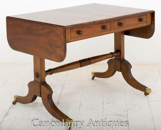 Rosewood Regency Sofa Table Extending Drop Leaf