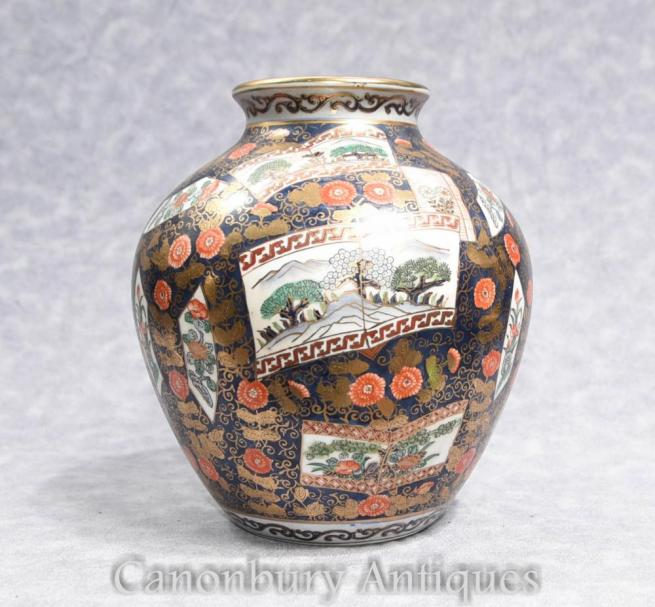 Single Japanese Imari Porcelain Vase Urn