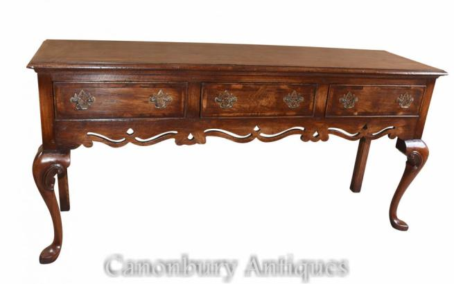 Tall Oak Farmhouse Sideboard Buffet Dresser Base