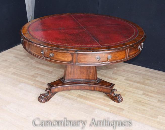Victorian Coromandel Drum Table Centre Tables