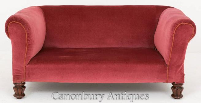 Victorian Drop End Chesterfield Settee Sofa