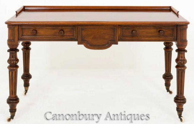 Victorian Mahogany Desk Writing Side Table 1860