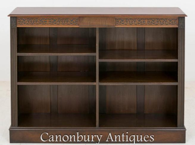 Victorian Mahogany Open Bookcase 1880