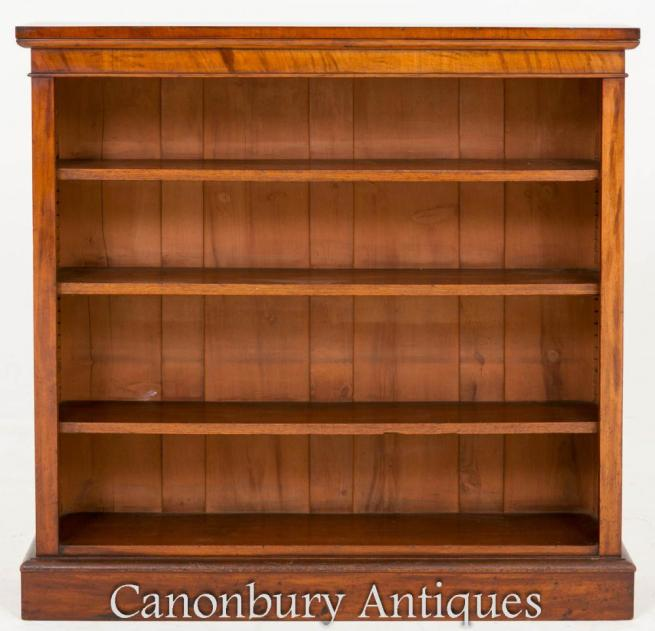 Victorian Open Front Bookcase Mahogany 1860