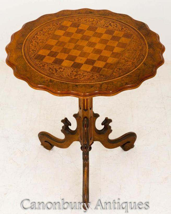 Victorian Walnut Occasional Side Table 1860