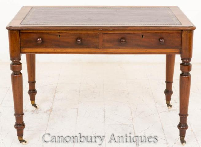 Victorian Writing Table Desk Mahogany Tables Bureau