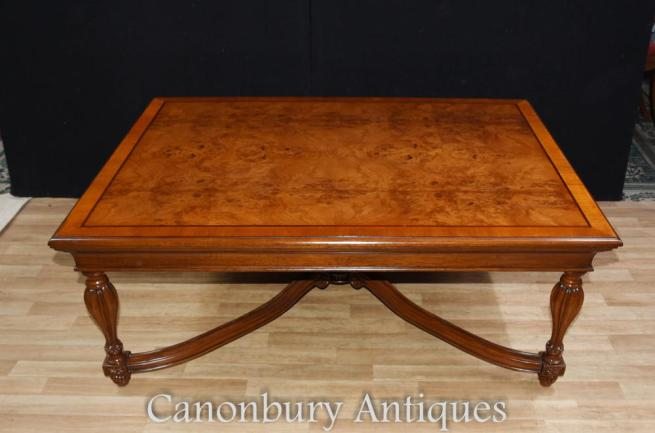 Walnut Regency Coffee Table English Furniture Tables