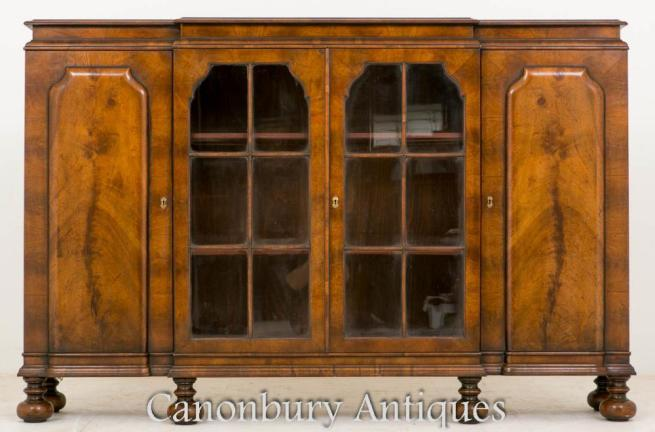 William and Mary Walnut Side Cabinet Buffet 1930