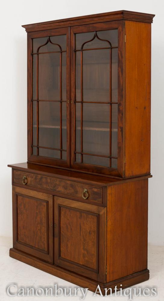 William IV Mahogany Bookcase Display Cabinet 1800