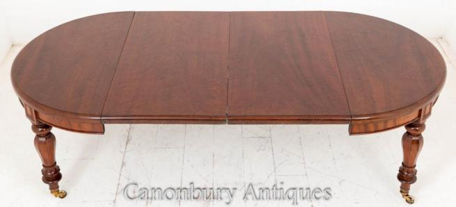 William IV Mahogany Extending Dining Table