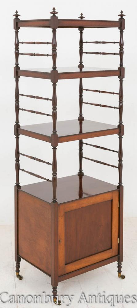 William IV Whatnot Mahogany Bookcase Shelf Unit
