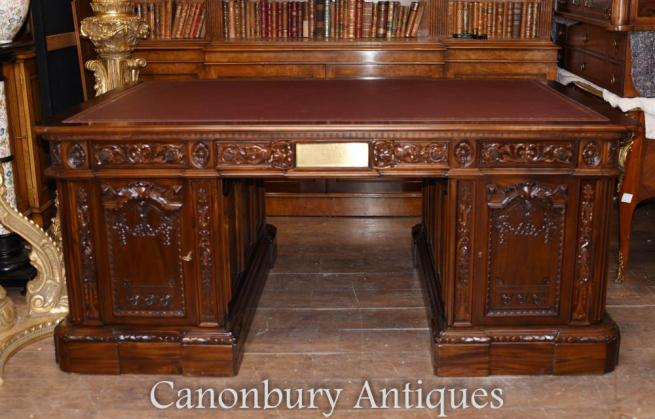 American Presidents Desk Mahogany Partners Desk White House