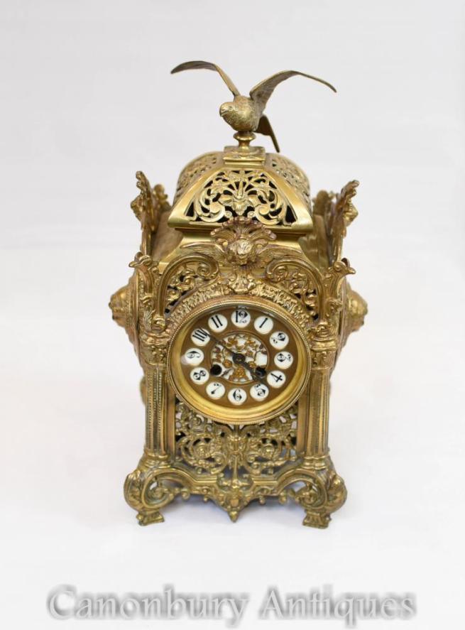 Antique Ormolu French Empire Carriage Clock Gilt