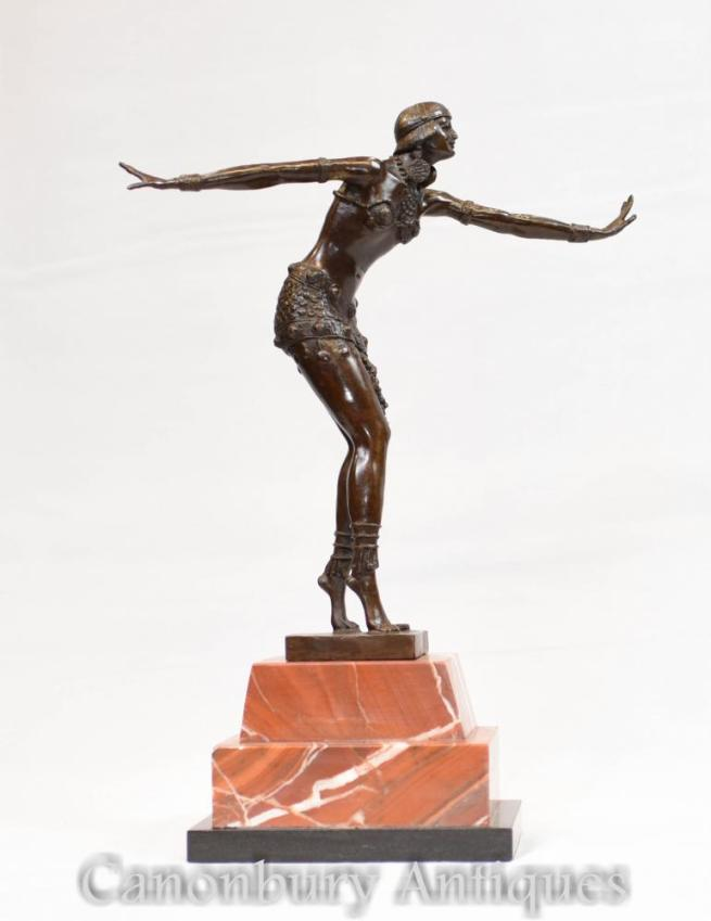 Art Deco Bronze Charleston Dancer Figurine by Chiparus