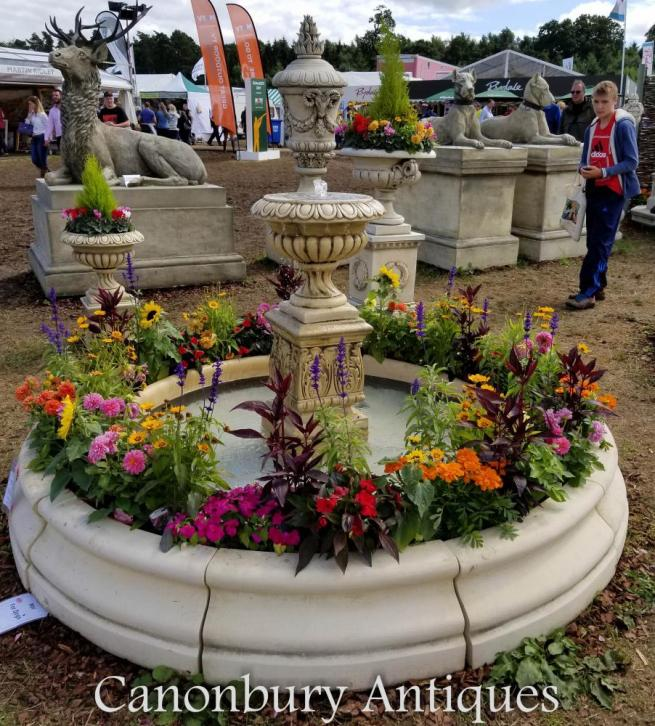 English Stone Garden Fountain Doulton Urn Water Feature