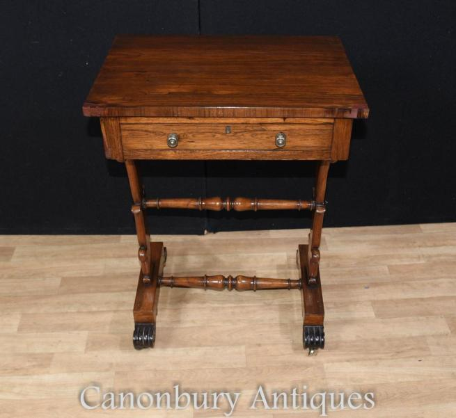 Regency Side Table Mahogany Occasional Table