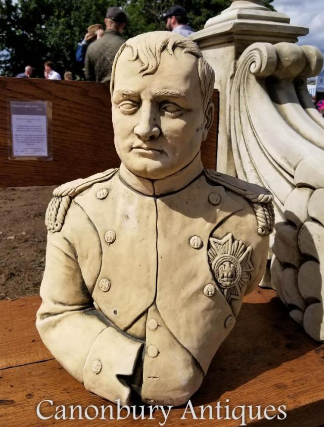 Stone Bust Emperor Napoleon Bonaparte French