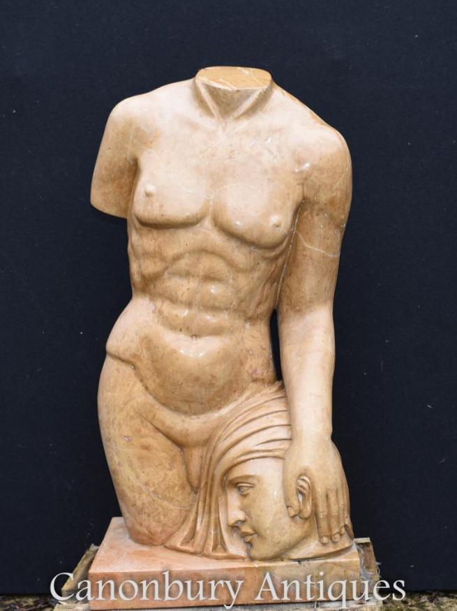 Classical Marble Torso Statue Medusa Perseus Greek Myth Art