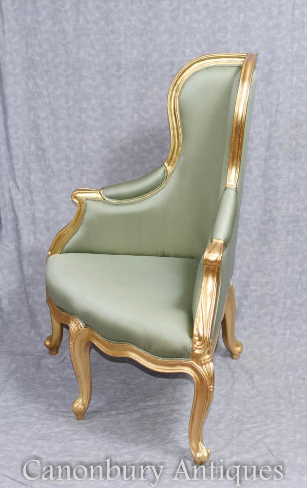 French Empire Gilt Corner Chair