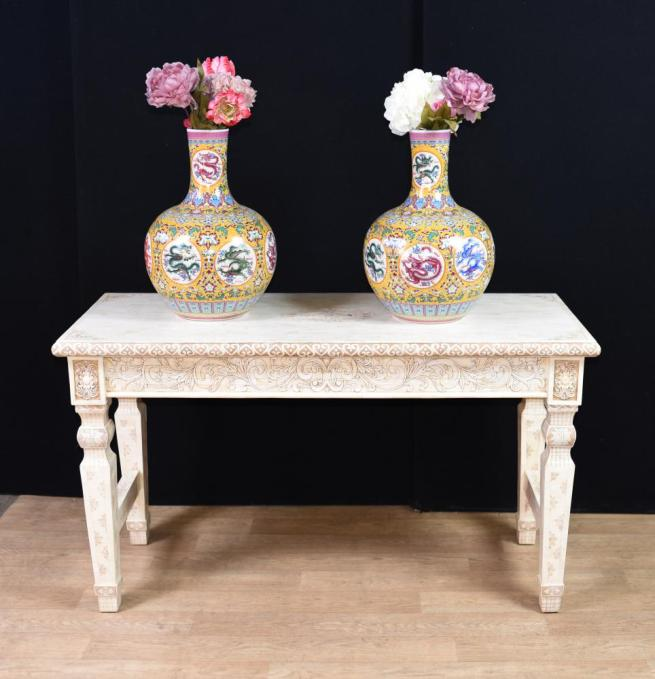 Hand Carved Chinese Bone Console Table China Interiors
