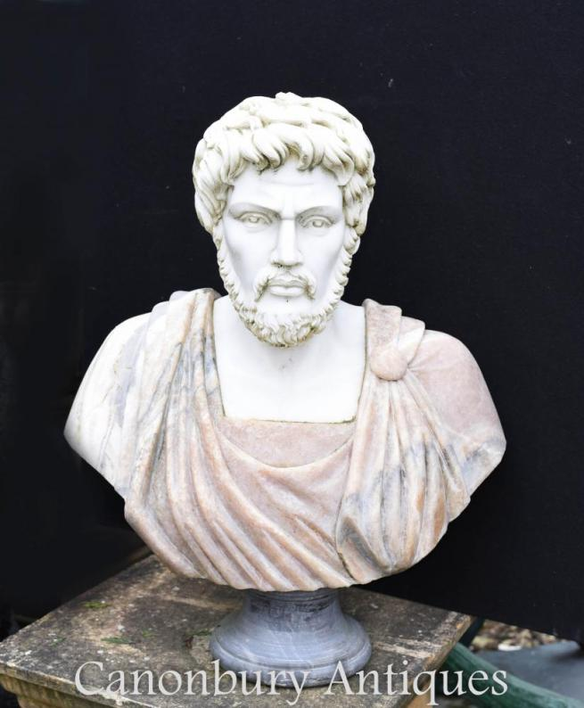 Italian Marble Bust Roman Emperor Antoninus Pius