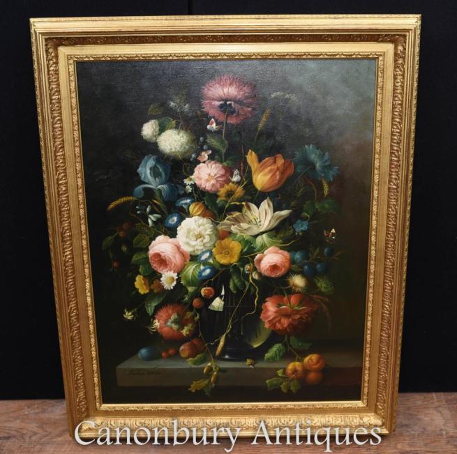 Still Life Oil Painting - Victorian Art Gilt Frame