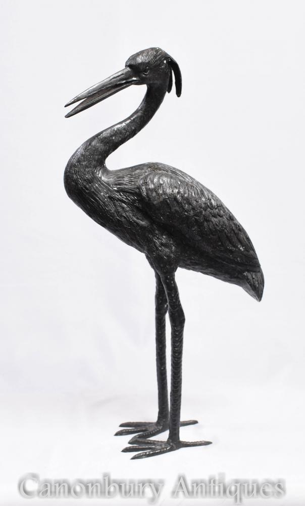 Bronze Crane Bird Statue - Stork Casting