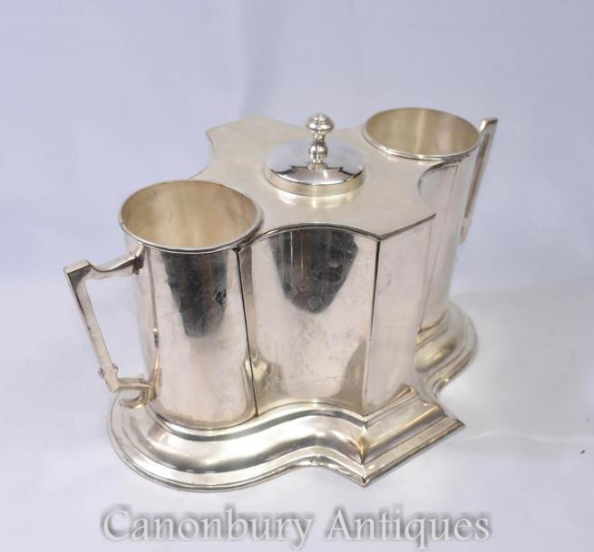 English Art Nouveau Silver Plate Wine Champagne Cooler