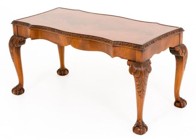Mahogany Chippendale Coffee Table in Walnut