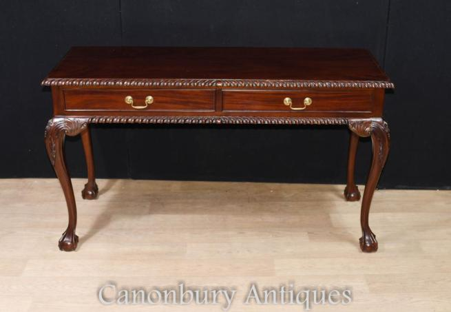 Mahogany Chippendale Console Table Server Ball and Claw Feet
