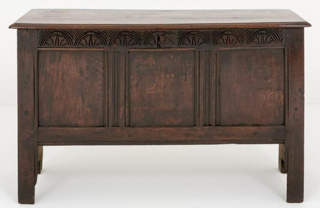 Oak Pannelled Chest Coffer 18th Century