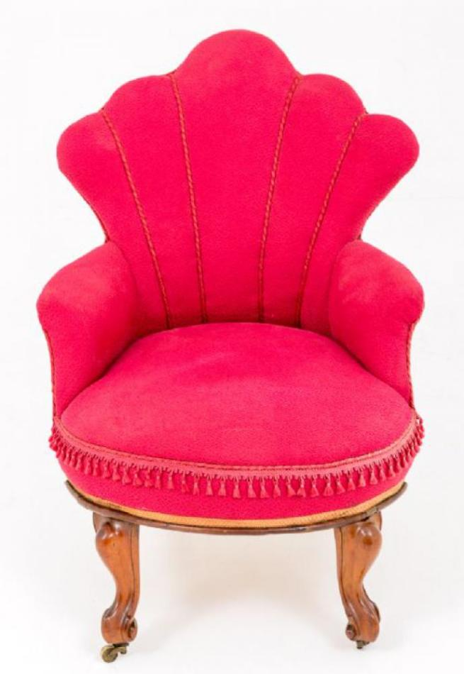 Victorian Occasional Shell Arm Chair Sofa Circa 1860