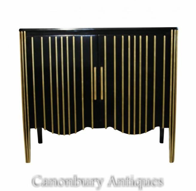 Art Deco Ebonised Cabinet Commode Modernist Furniture