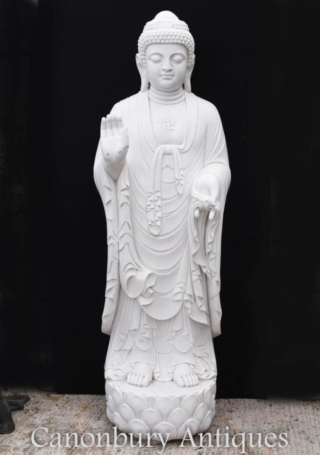 Giant Marble Tibetan Buddha Statue - 210 CM Buddhist Art