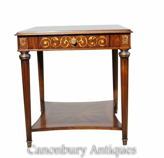 Pair Regency Side Tables Santos Inlay
