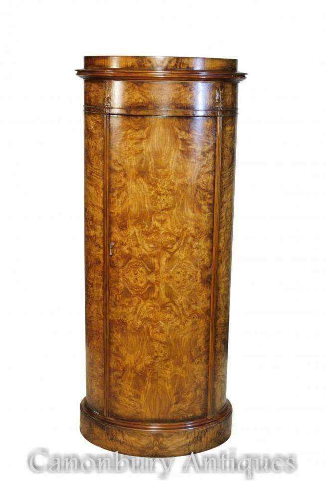 Regency Oval Cabinet Tall Boy in Ash Wood