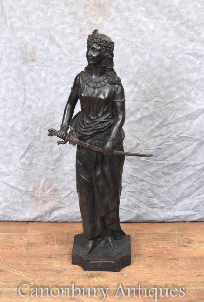 Large Bronze Lady of Salome Statue Figurine Casting