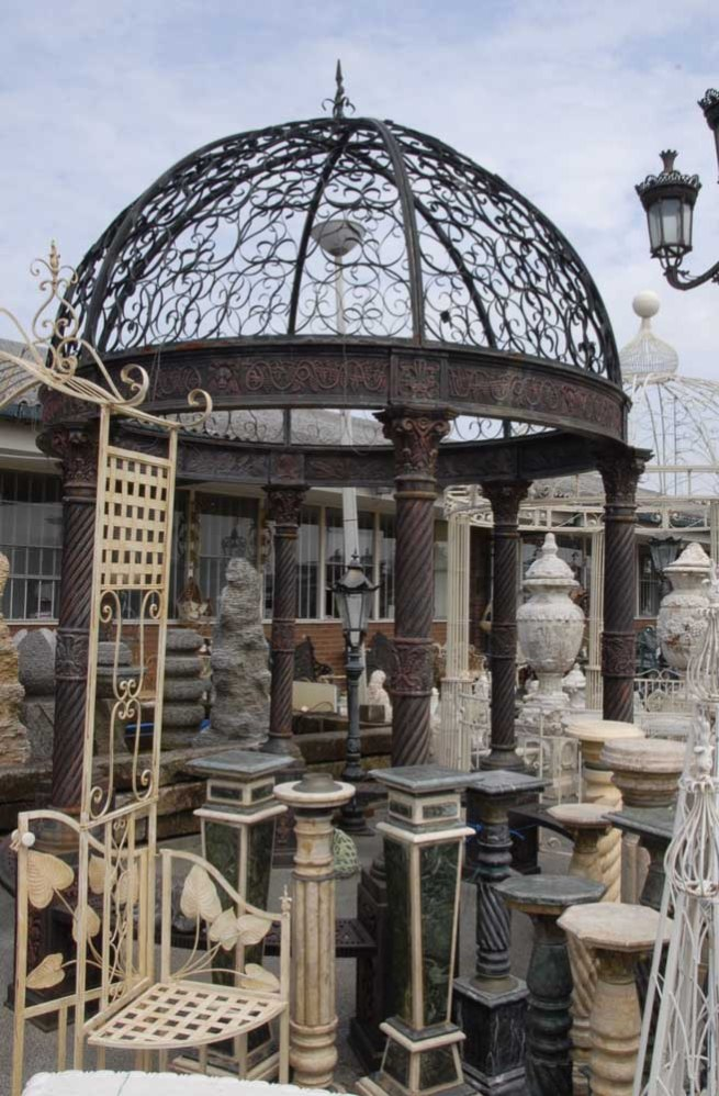 12 foot English Victorian Cast Iron Gazebo Architectural