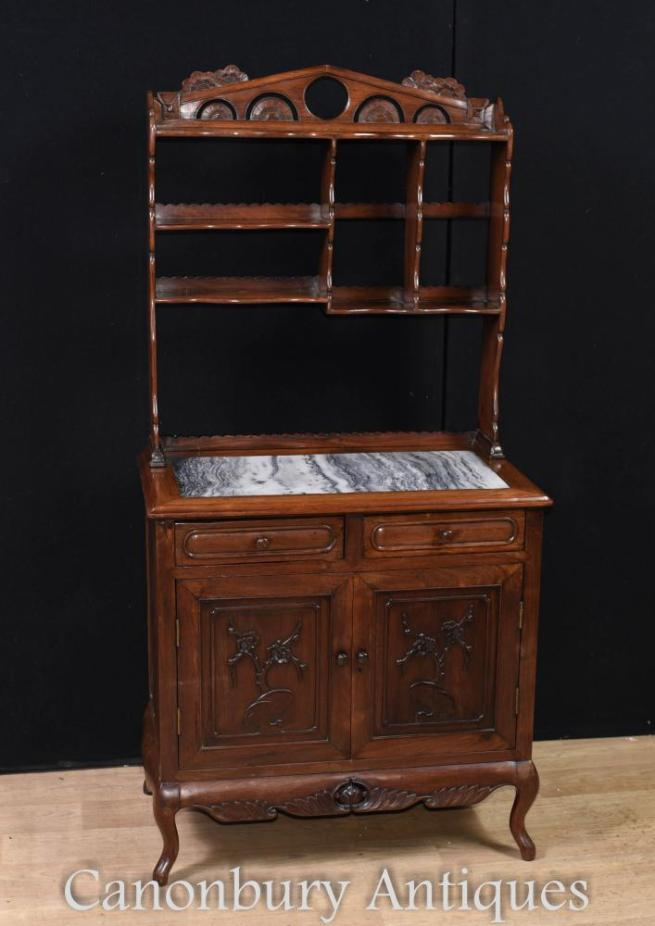 Antique Chinese Hardwood Dresser Circa 1850 Cabinet Bookcase