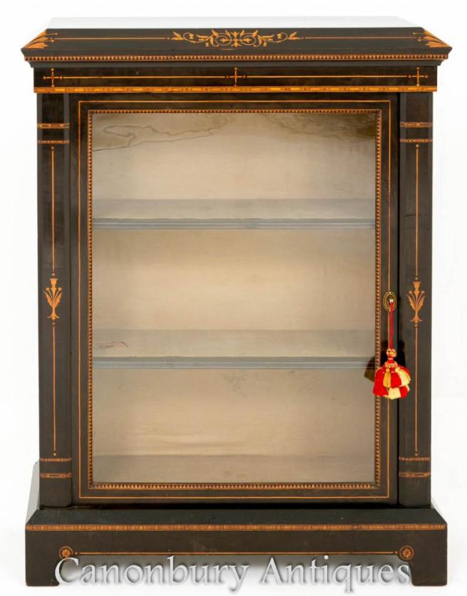 Arts and Craft Ebonised PierArts and Craft Ebonised Pier Cabinet Display Cabinet Display