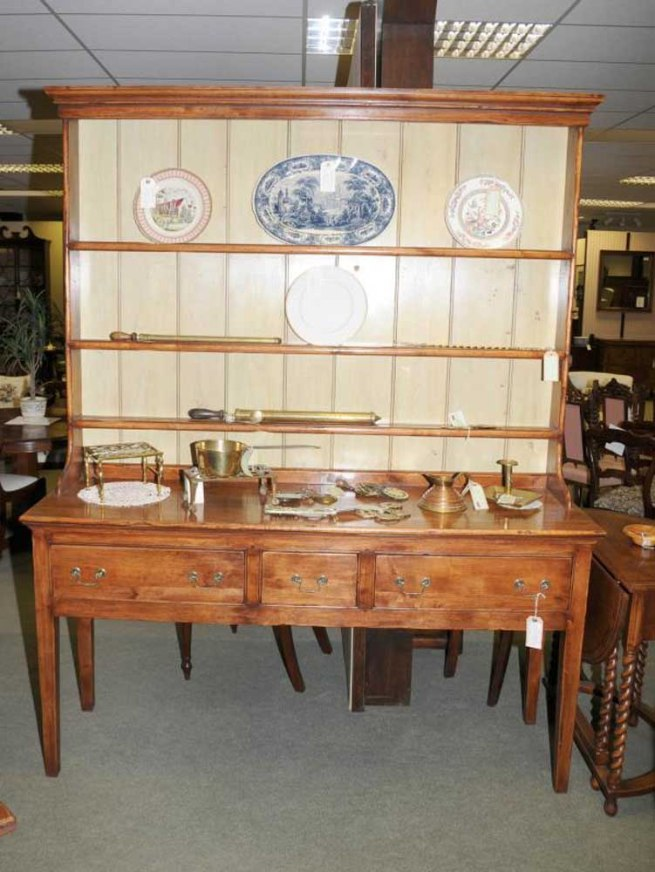Farmhouse Welsh Dresser Sideboard Cherry Wood Kitchen