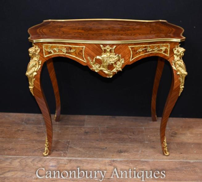 French Empire Ladies Desk Writing Table Inlay