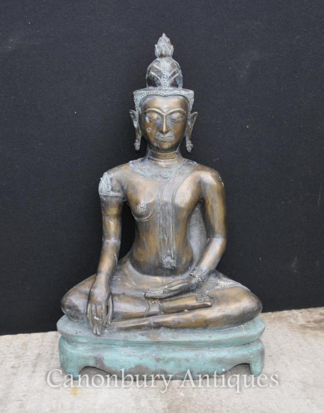 Large Bronze Nepalese Buddha Statue Buddhism Buddhist Art Nepal