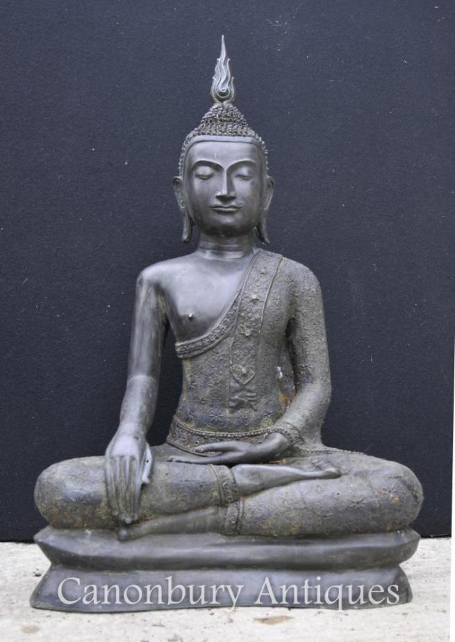 Large Bronze Tibetan Buddha Statue Buddhist Art Meditate Dhyanasana