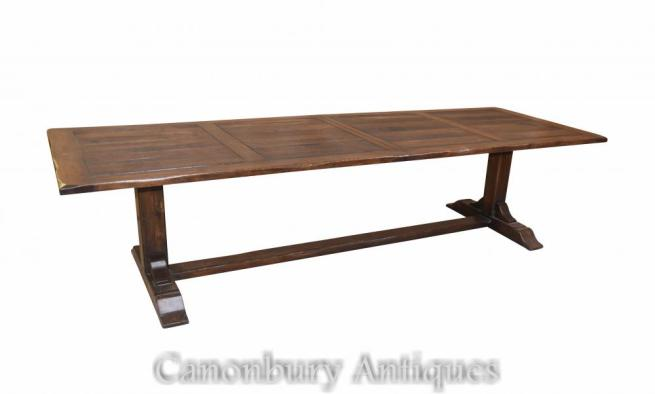 Large Extending Refectory Table Farmhouse Dining Tables